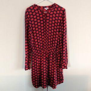 Splendid geo red dress sz L